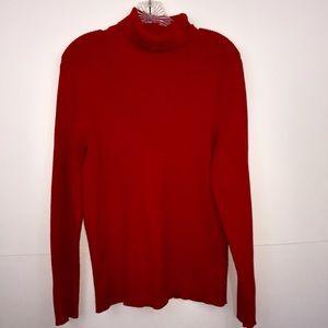 Ralph Lauren Turtleneck Sweater, XL, Red